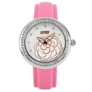 Relógio Feminino Skmei Analógico 9087 Rosa e Prata