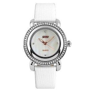 Relógio Feminino Skmei Analôgico 9093 Branco