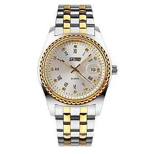 Relógio Feminino Skmei Analógico 9098 - Prata