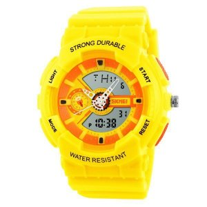 Relógio Infantil Menino Skmei AnaDigi 1052 - Amarelo