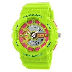 Relógio Infantil Skmei Anadigi 1052 Verde