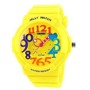 Relógio Infantil Skmei Analógico 1042 Amarelo