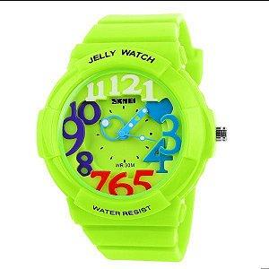 Relógio Infantil Skmei Analógico 1042 Verde