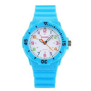 Relógio Infantil Skmei Analógico 1043 - Azul Claro