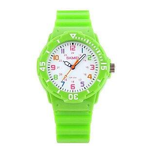 Relógio Infantil Skmei Analógico 1043 Verde