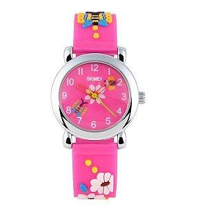 Relógio Infantil Skmei analógico 1047 Rosa Claro