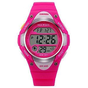 Relógio Infantil Skmei Digital 1077 Rosa