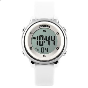 Relógio Infantil Menina Skmei Digital 1100 - Branco