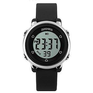 Relógio Infantil Menina Skmei Digital 1100 - Preto
