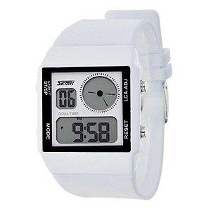 Relógio Skmei Anadigi 0841 Branco