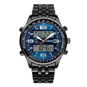 Relógio Masculino Skmei Anadigi 1032 - Azul