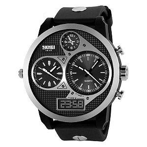 Relógio Masculino Skmei Anadigi  1033 Preto