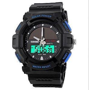 Relógio Masculino Skmei Anadigi 1050 Preto-Azul