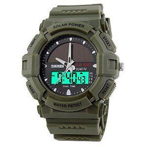 Relógio Masculino Skmei Anadigi 1050 Verde