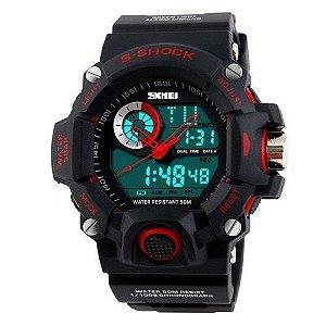 Relógio Skmei Anadigi 1053 Preto e Vermelho