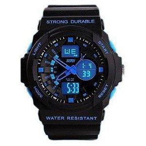 Relógio Skmei Anadigi  1061 Preto e Azul