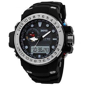 Relógio Masculino Skmei Anadigi 1063 Prata