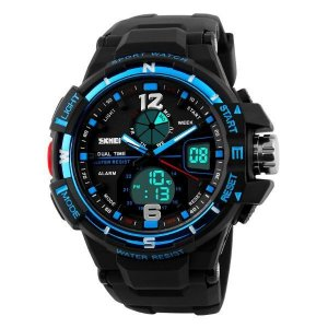 Relógio Masculino Skmei Anadigi 1148 Preto-Azul