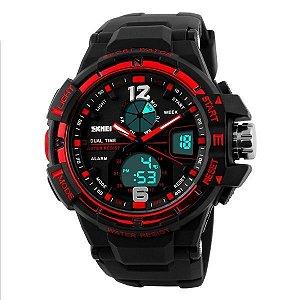 Relógio Masculino Skmei Anadigi 1148 PT-VM