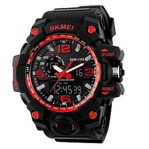 Relógio Masculino Skmei Anadigi 1155 PT-VM