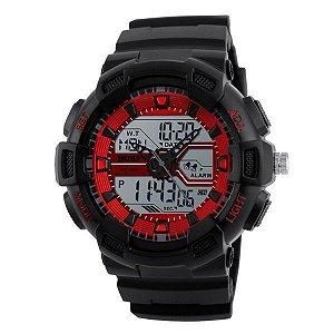 Relógio Masculino Skmei Anadigi 1189 Vermelho