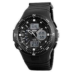Relógio Masculino Skmei Anadigi 1198 Branco
