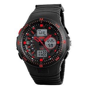 Relógio Masculino Skmei Anadigi 1198 Vermelho