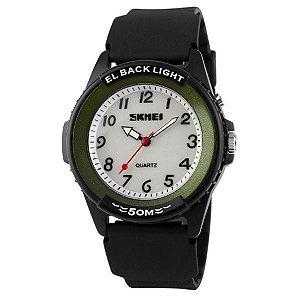 Relógio Masculino Skmei Analógico 0887 Preto-Verde