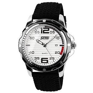 Relógio Masculino Skmei Analógico 0992 Preto e Branco