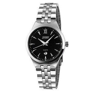 Relógio Masculino Skmei Analógico 9071 Prata e Preto