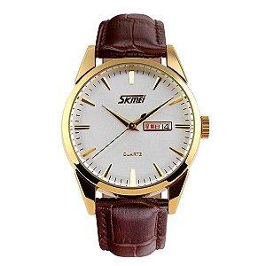 Relógio Masculino Skmei Analógico 9073 Branco