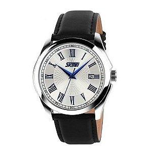 Relógio Skmei Analógico 9076 Preto e Prata