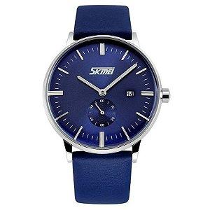 Relógio Masculino Skmei Analógico 9083 - Azul e Prata