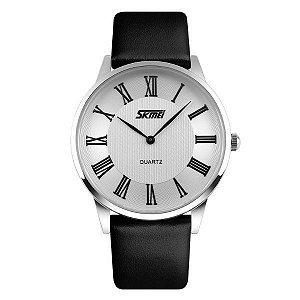 Relógio Masculino Skmei Analógico 9092 Preto-Prata
