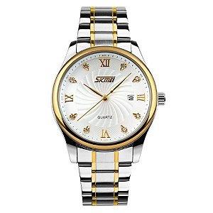 Relógio Masculino Skmei Analógico 9101 Prata