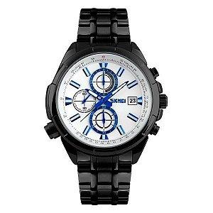 Relógio Masculino Skmei Analógico 9107 Preto e Branco