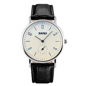 Relógio Masculino Skmei Analógico 9120 Branco