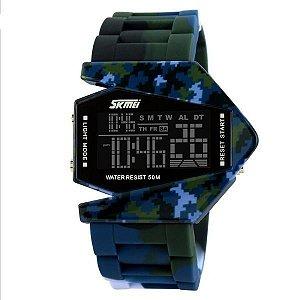 Relógio Masculino Skmei Digital 0817 Verde e Azul