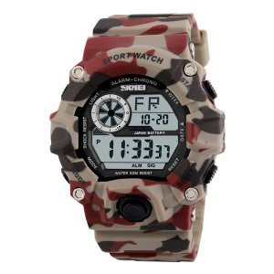 Relógio Masculino Skmei Digital 1019 Camuflado Bege