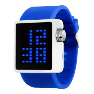Relógio Masculino Skmei Digital 1145 Azul e Branco