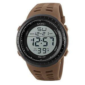 Relógio Masculino Skmei Digital 1167 Marrom e Preto