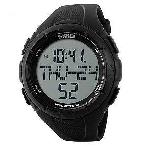 Relógio Masculino Skmei Digital Pedômetro 1122 Preto