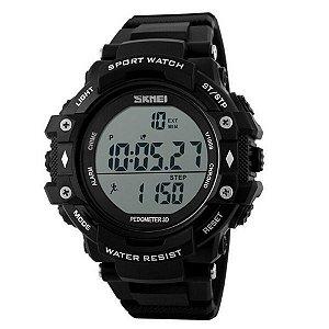 Relógio Masculino Skmei Digital Pedômetro 1128 Preto