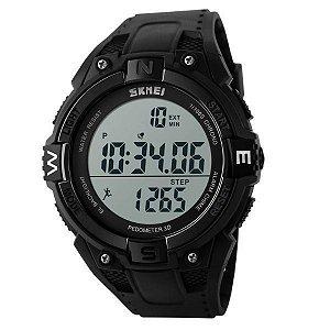 Relógio Masculino Skmei Digital Pedômetro 1141 Preto