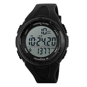 Relógio Masculino Skmei Pedômetro Digital 1108 Preto