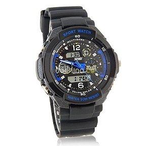 Relógio Skmei Anadigi 0931 Preto e Azul