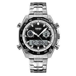 Relógio Masculino Skmei Anadigi 1204 Branco