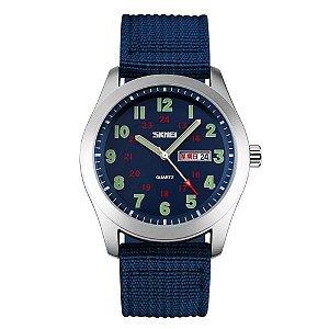 Relógio Masculino Skmei Analógico 9112 Azul