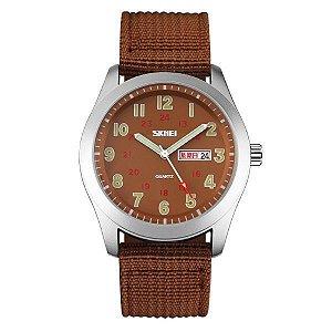 Relógio Masculino Skmei Analógico 9112 Marrom
