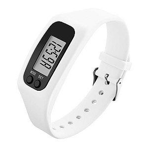 Relógio Masculino Skmei Pedômetro Digital 1207 Branco